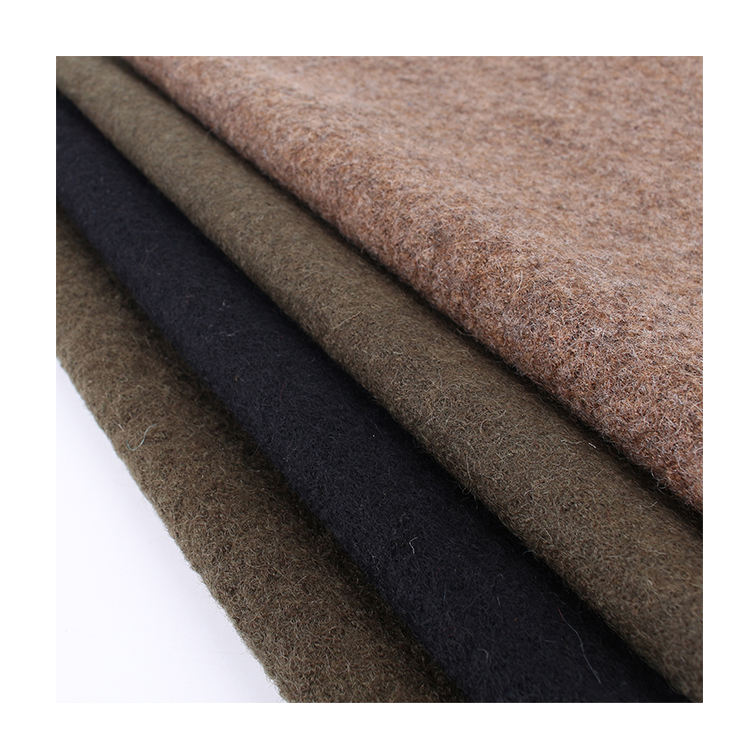 Hot selling knitted winter 100% wool felt woolen suit fabric