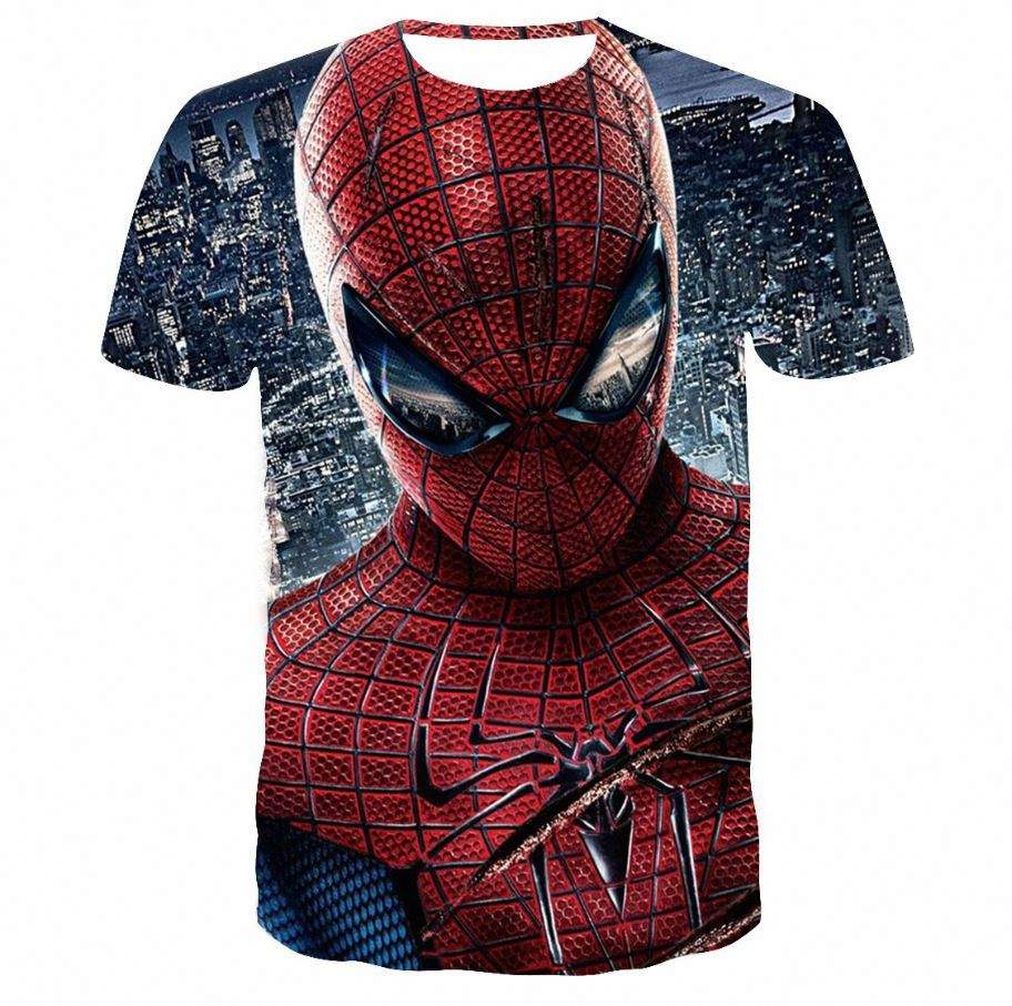 Zomer 3D Print T-shirt Mannen Marvel Comic <span class=keywords><strong>Super</strong></span> Hero Spiderman <span class=keywords><strong>Super</strong></span> Hero Korte Mouwen Groothandel T-shirts