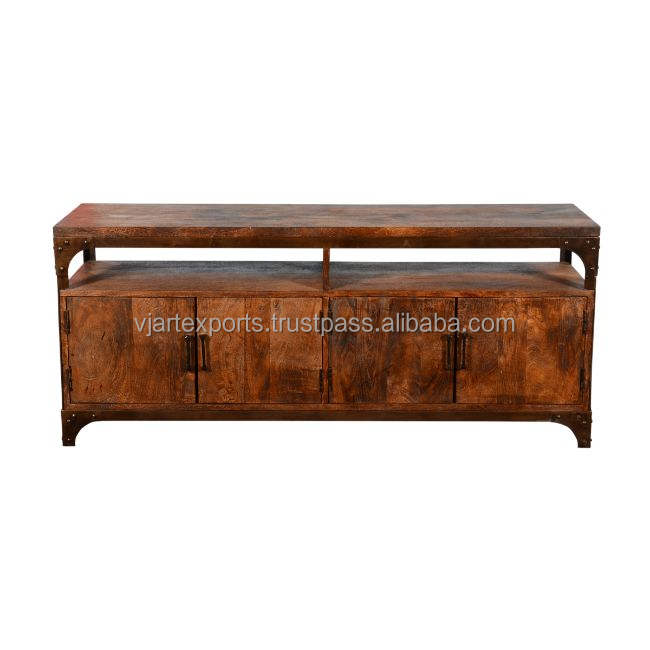 top quality fine classy look trendy design industrial sideboard with display rack by best famous manufacturer