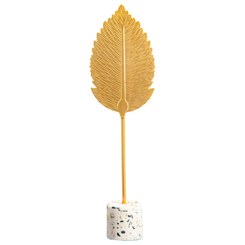 directly price exquisite metal iron craft desktop decor with leaf designs for promotion gift