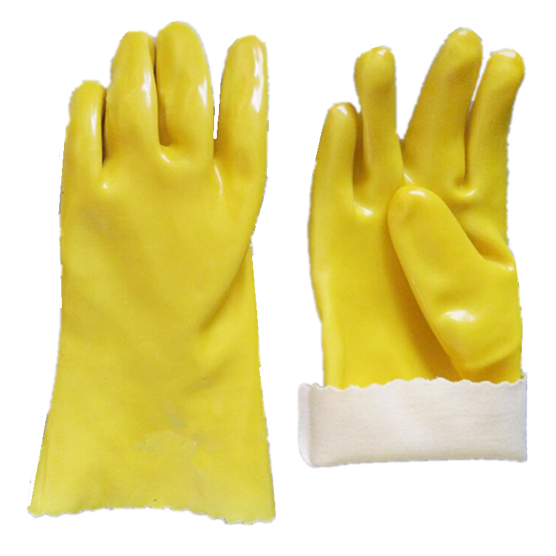 Wholesale rubber gloves Rough Sandy Finish Rubber PVC Coated Work Gloves For Oil Industry
