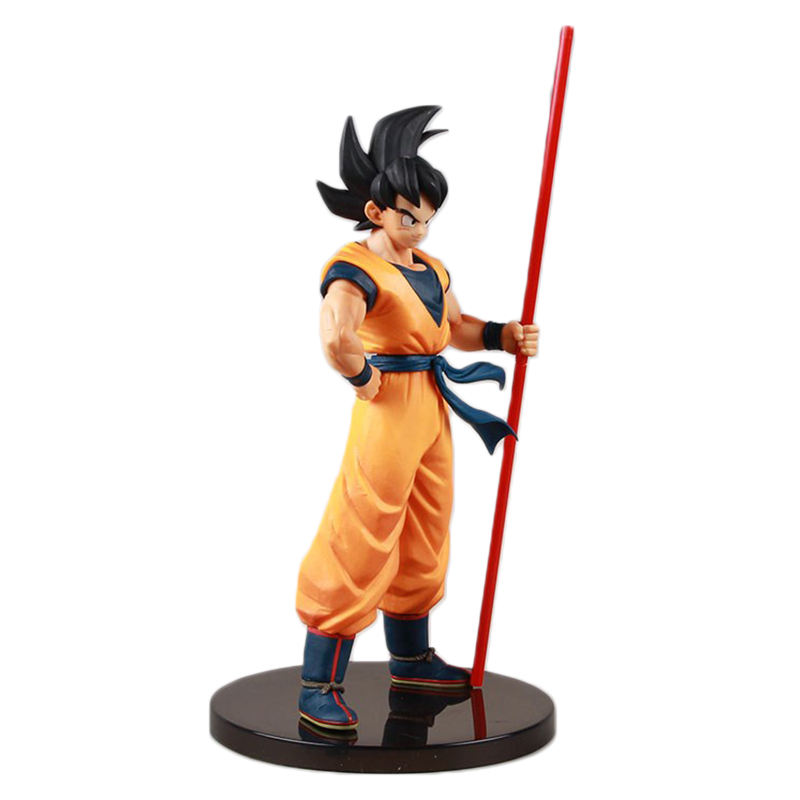 20th Anniversary Zon Goku Golden Cudgel Super Saiyan Goku Action Figure Anime Beeldje Model Pop Speelgoed
