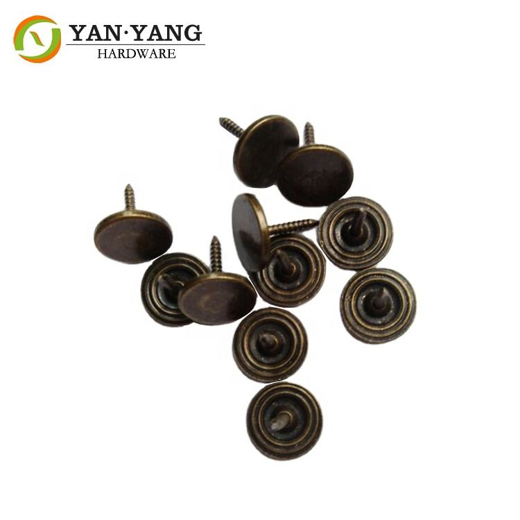 High quality furniture chair button head sofa upholstery nail with flat head , flat nail for sofa