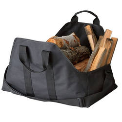 Fireplace Log Carrier Canvas Fire Place Wood Carring Bag with Handles Log Tote Holders