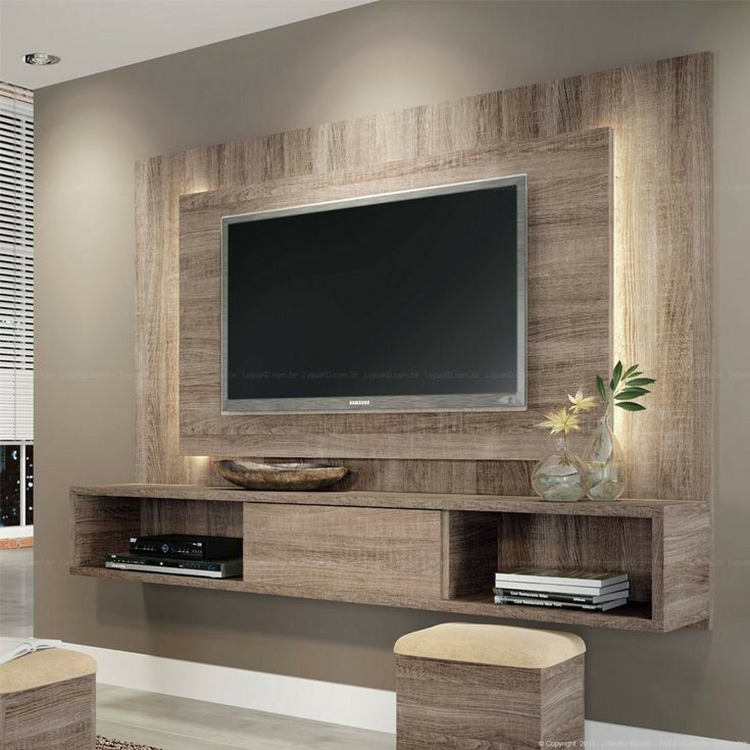 Modern home hotel floating wooden tv cabinets furniture designs living room wall mounted screen tv cabinet design