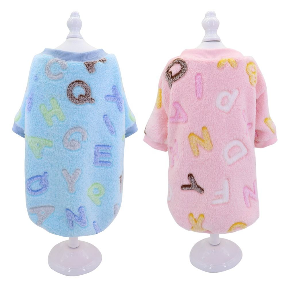Factory Price Wholesales Soft Warmful Flannel Sweater Pet Dog Clothes