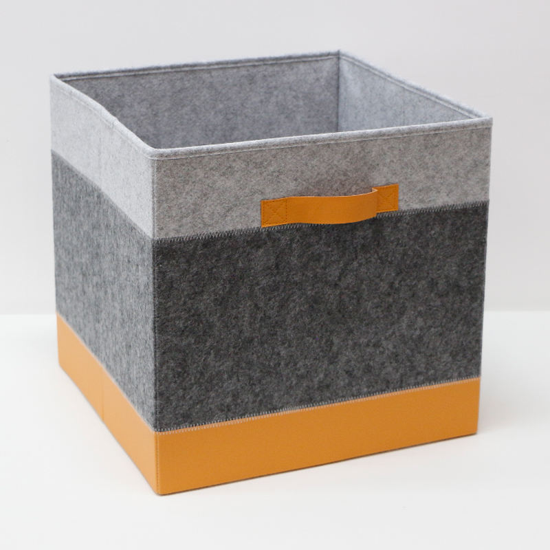 Oxford fabric cube storage box for clothes fireproof foldable felt storage boxes felt storage cube bins
