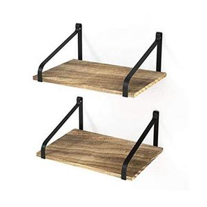 Love-KANKEI Floating Shelves Wall Mounted Set of 3  Rustic Wood Wall Storage Shelves