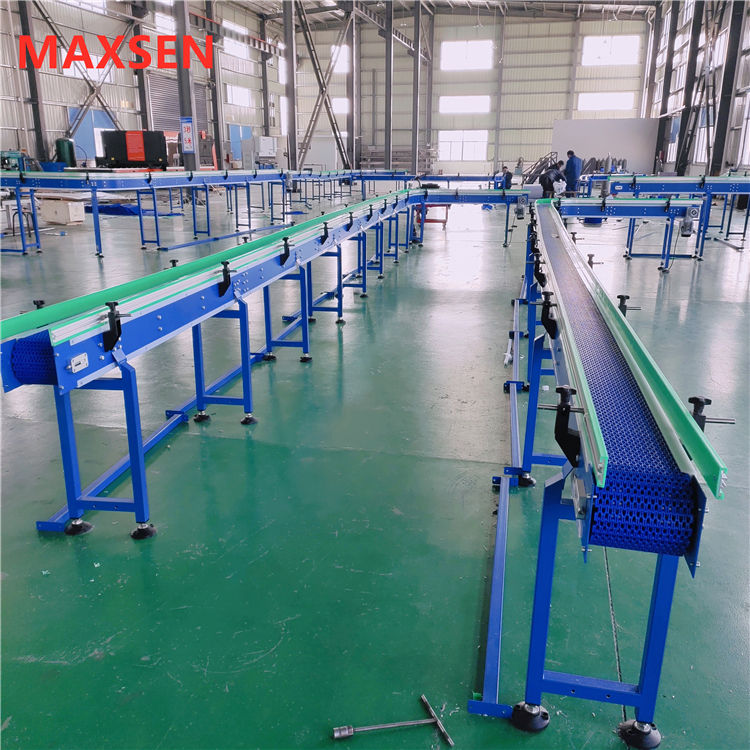 Maxsen Customized Modular Belt Conveyor System for food beverage packing industries
