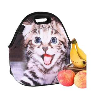 Neoprene Anak Tas Makan Siang Fashion Gaya Lipat Thermal Cooler Bag