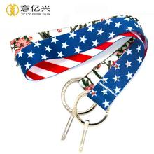 Cheap Custom Polyester Printing Mini Hand Wrist Short Lanyard Strap