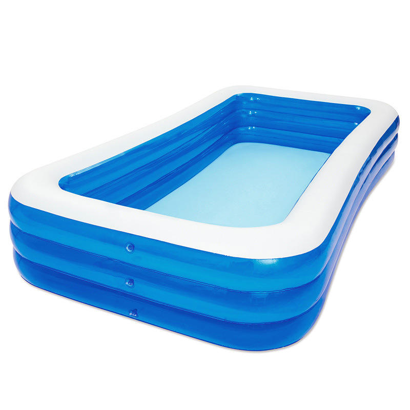 PVC White Blue Customized children portable inflatable swimming pool household outdoor large family thickened plastic baby pool