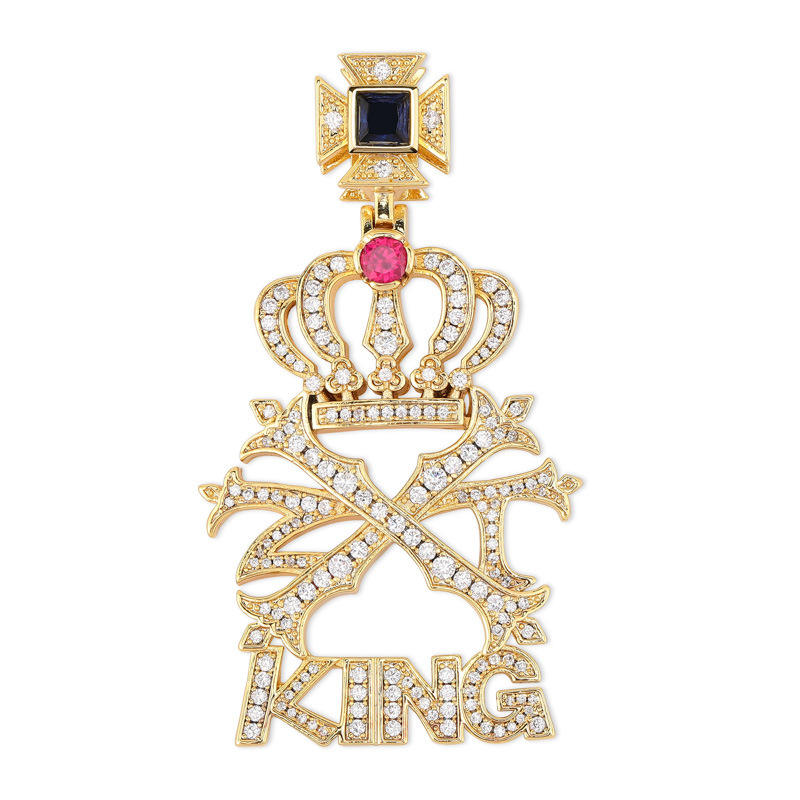 2019 popular personalized dubai gold chains Crown king pendant hip hop pendant