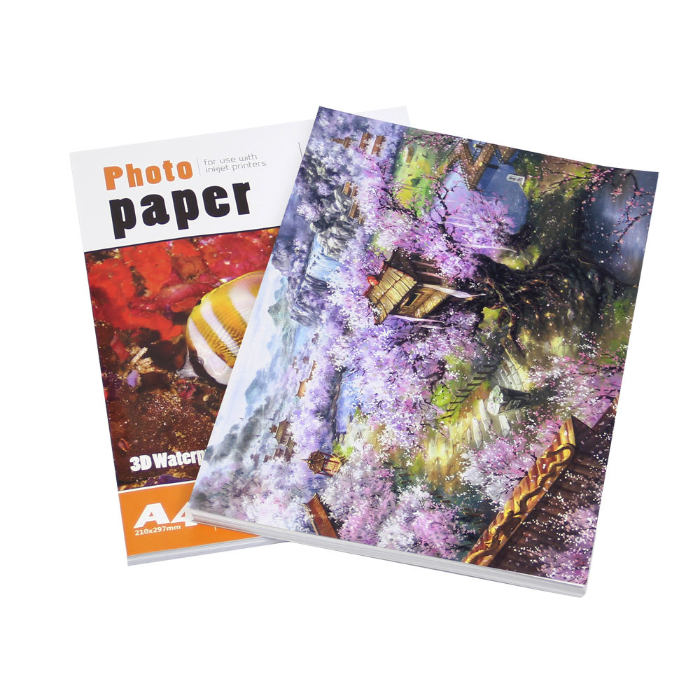 3D Glossy 250gsm craft paper photo paper