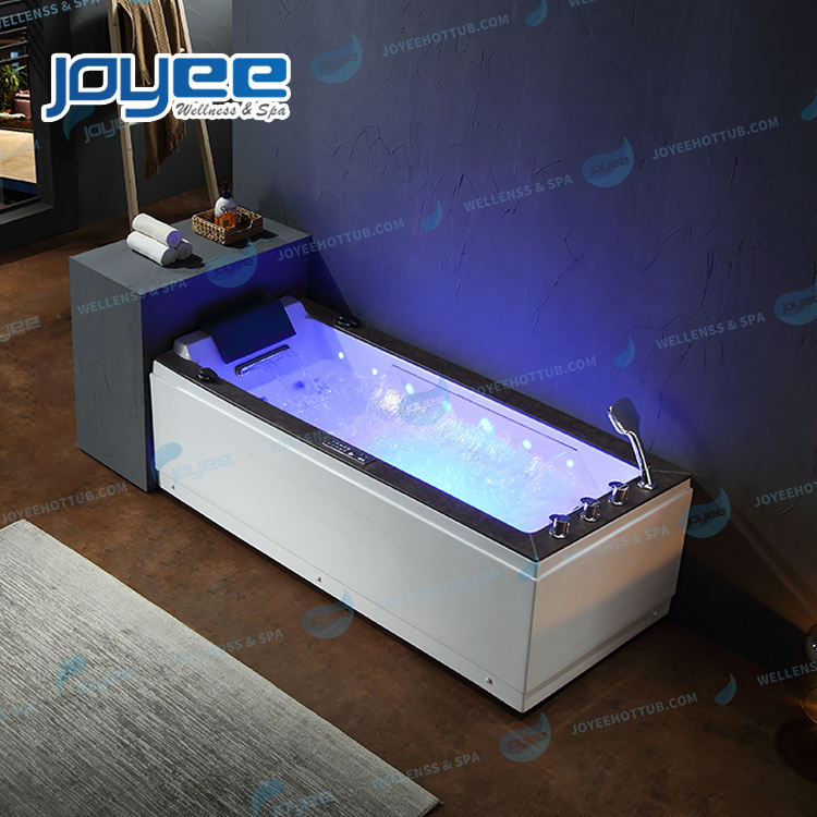 JOYEE stone panel massage whirlpool bathtub Spa hot tub luxury new bath tub indoor bathtub price with waterfall