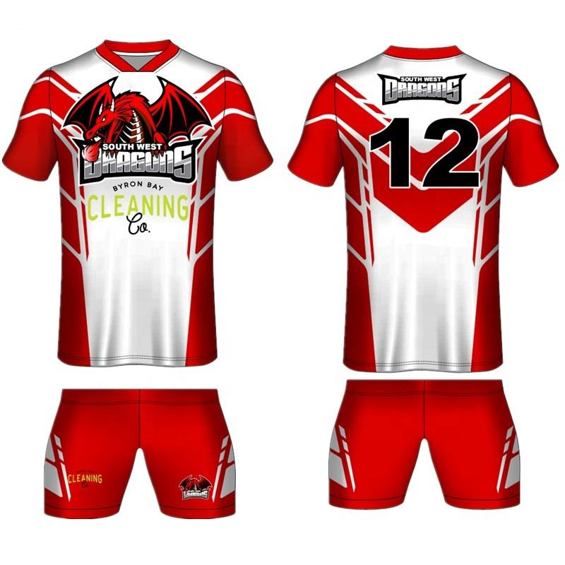 Design personnalisé impression par sublimation rugby maillot uniforme