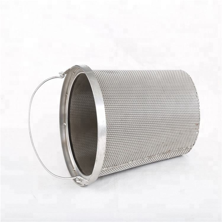 stainless steel 304 water filter wire mesh cartridge / wire mesh filter Cylinder
