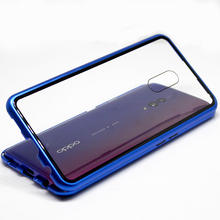 For Oppo Realme xt Tempered Glass cases 360 degree protective magnetic Case Magnet Protective Cover Capa Coque