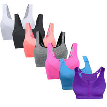 Yoga Wear Fitness Clothing Sports Bra Women Padded Seamless Plus Size Gym Clothes With Zip