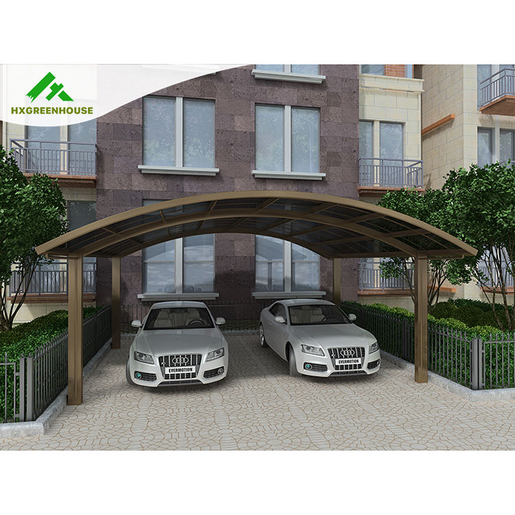 Polycarbonate sheet Aluminum frame driveway gate canopy carports