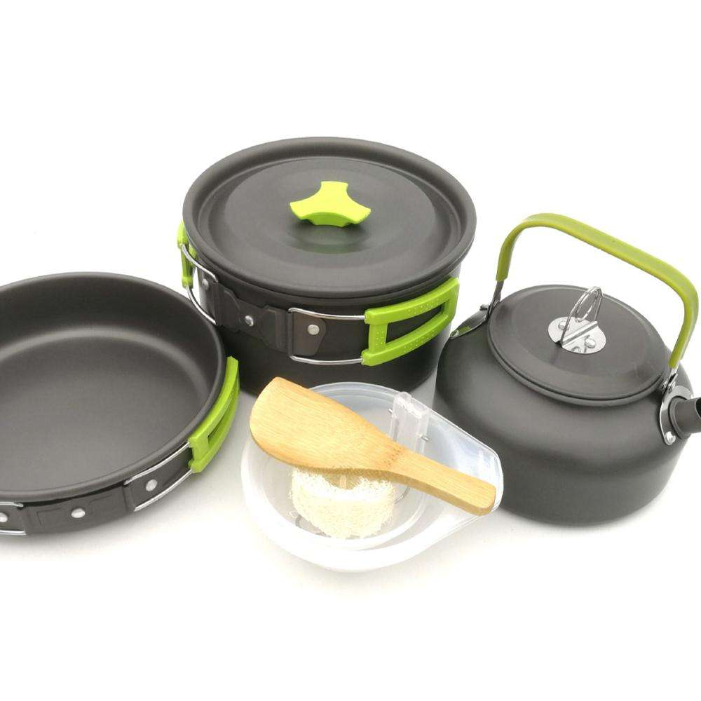 Direct Supply Lightweight Mini Aluminum Portable Camping Cookware Set With Storage Bag