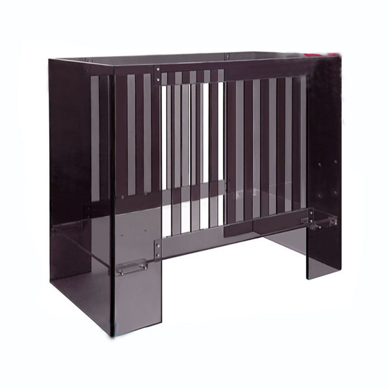 Visible Durable safe acrylic crib baby bed for nursery