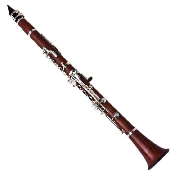 Accept OEM Cheap 17 Keys Rosewood Body Silver Keys Clarinet JYCL301RW