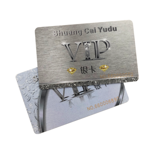 Cheap Price Custom Printing Glossy Finish Silver Color Plastic/PVC Gift/Membership/VIP/Business Smart Card