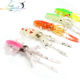 Fishing Soft Lure 2ps 4.3g/8.4g/14g 9.5cm/12cm/15cm Luminous/UV Squid Jig Fishing Lures For Sea Fishing Wobbler Bait