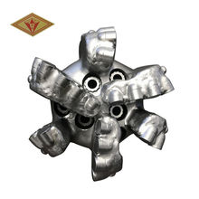 "water well drilling 6-1/4"" steel body PDC bits high wear resistance cutters"
