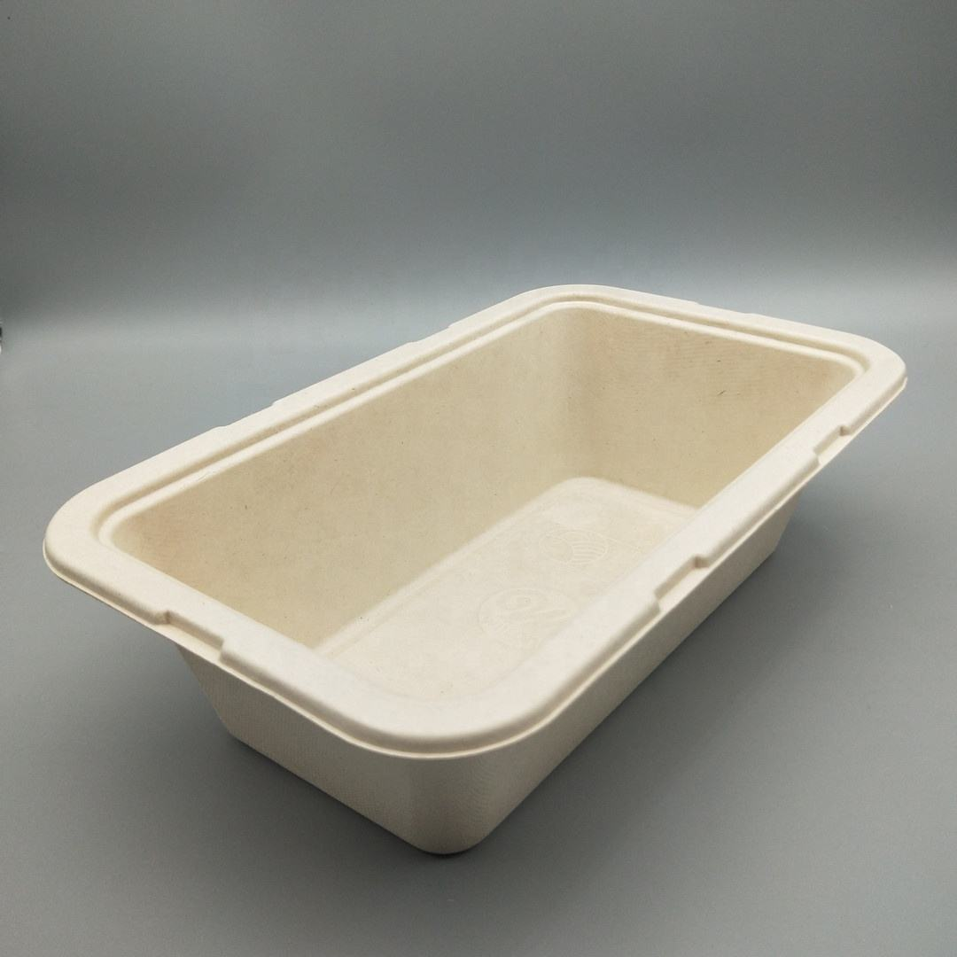 100% biodegradable disposable tableware food packaging containers for cake box packages