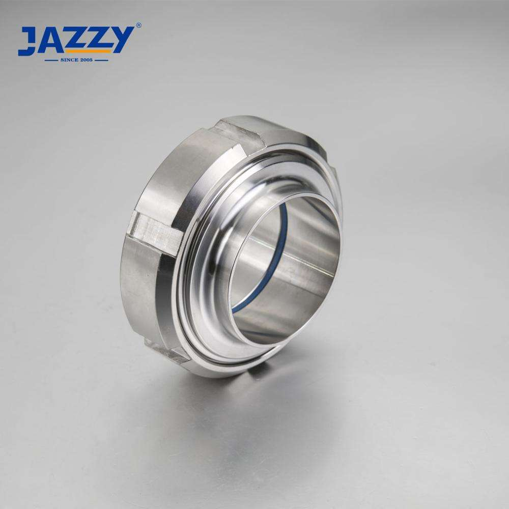 JAZZY food grade stainless steel ASTM A270 SS304/SS316L DIN SMS sanitary pipe fitting straight welding union