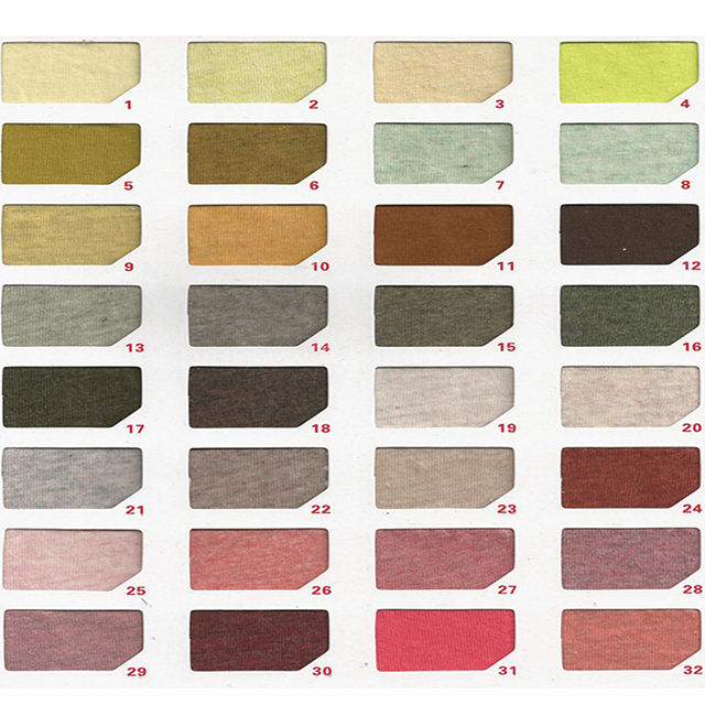 NO MOQ plain dyed 32s jersey organic cotton fabric wholesale