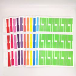 Customized Hot Selling Colorful Cable Wire label sticker cheap transport fee