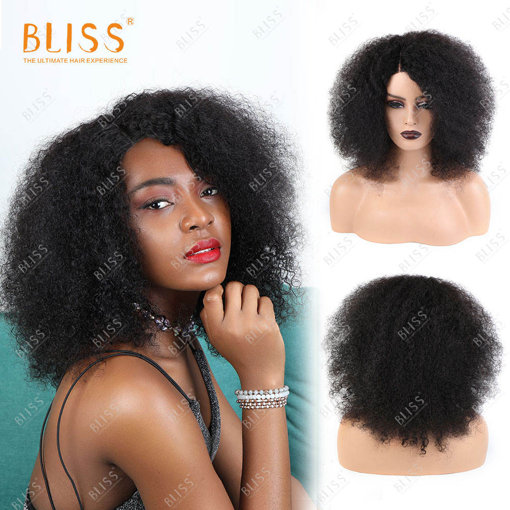 One-Stop Service [ Wig Kinky Wigs ] Afro Kinky Curly Hair Wig Bliss 4x4 Closure Wig Afro Kinky Curly Human Hair Wigs For Black Women Perruque Cheveux Humain