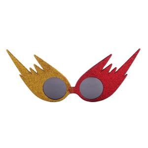JOJO Wholesale Fashion Design Custom Red And Yellow Fire Glitter Party Rally Glasses Gafas De Fiesta