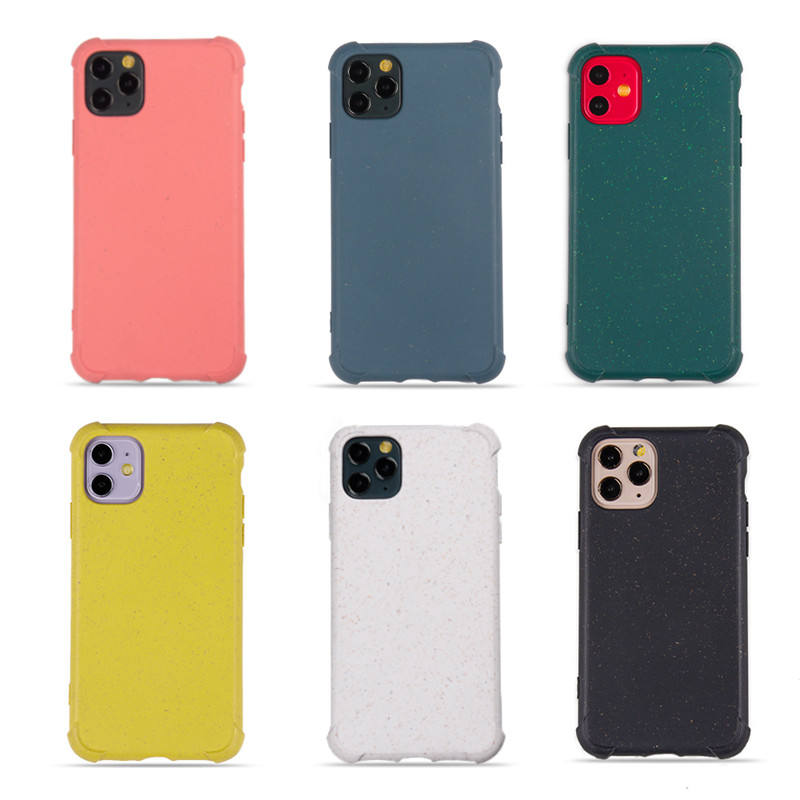 degradable phone case for iphone 11 Samsung 20 Plus,shockproof heavy protection cover for iphone se 11 pro max