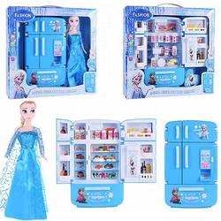 Wholesale 2020 child funny cooking refrigerator kitchen play set toy for girls kids pretend play house led light music