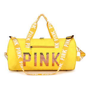 2020 Trending Hot sale Custom logo Pink Duffle bag Wholesale Waterproof Polyester Gym Bag For Women Gym Bag