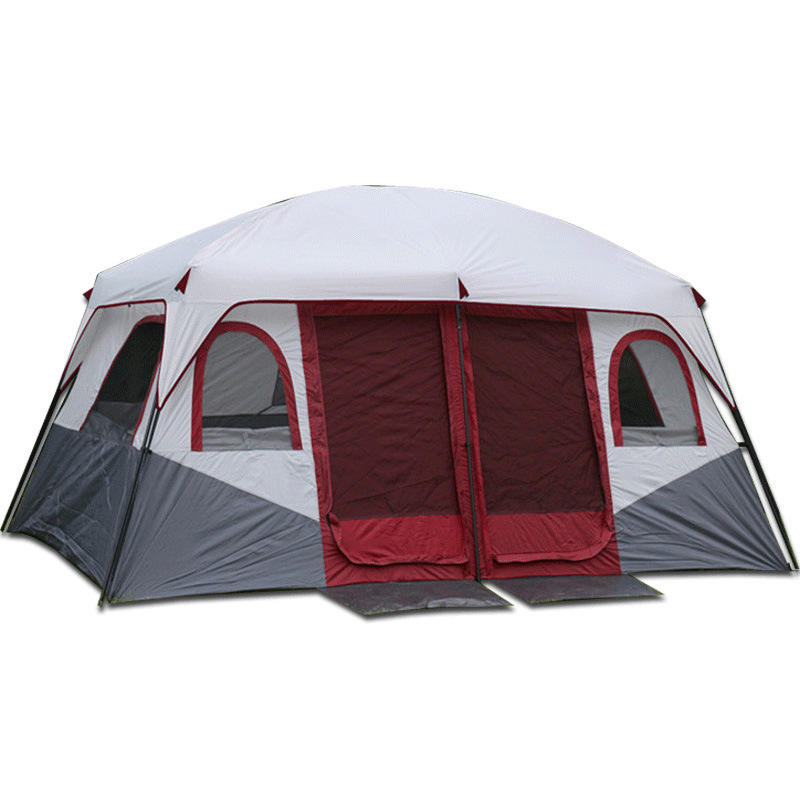 Luxury Large Family Outdoor Camping Tent 4 Season Winter Big Hiking Camping Waterproof 4*3 Meter 1 Hall & 2 Bad Rooms Tent