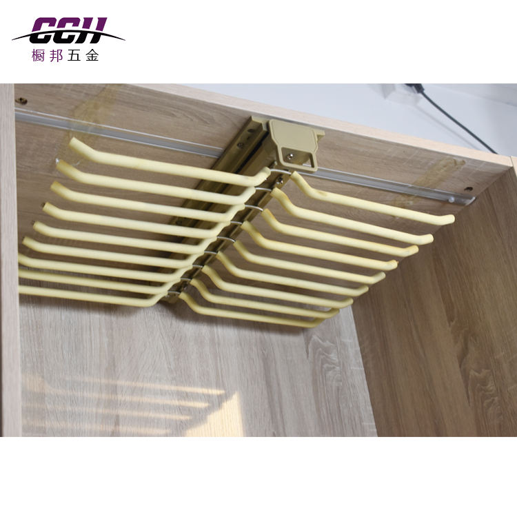 Wardrobe top mounted clothes hanger trouser hanging rack Suit coat pants sliding Hangers