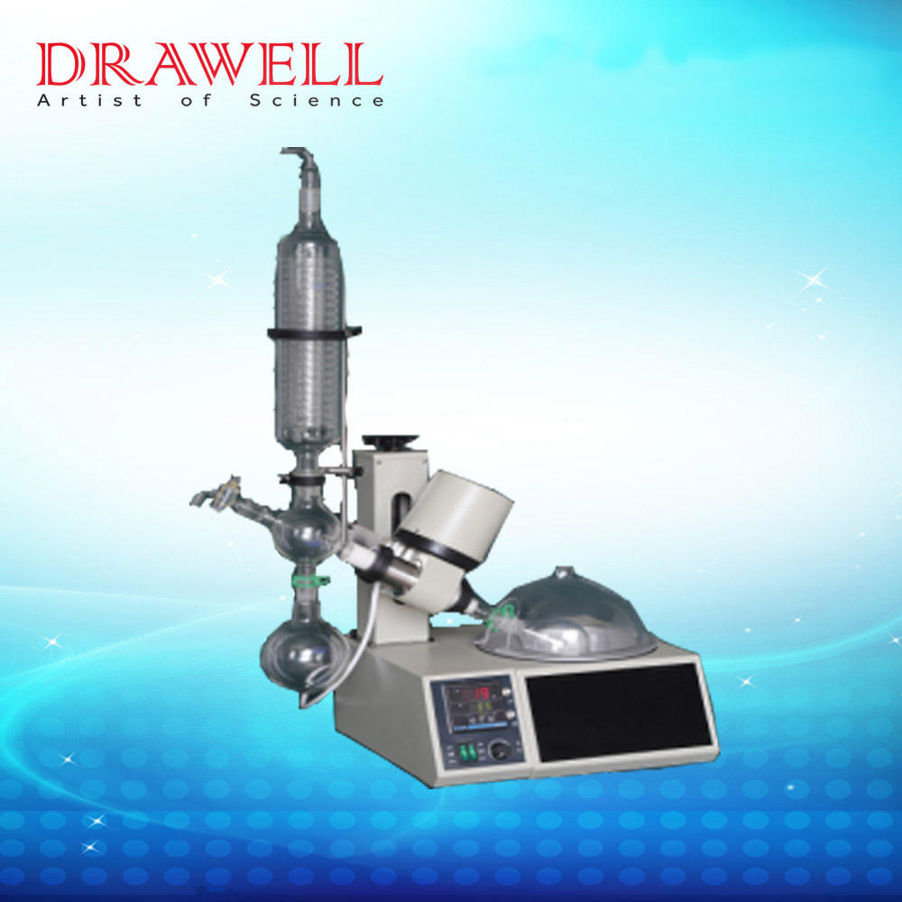 Drawell high quality rotary evaporator 2l with water bath for chemical use