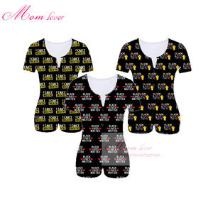 BLM logo women adult romper black lives matter apparel onesie ladies sleepwear