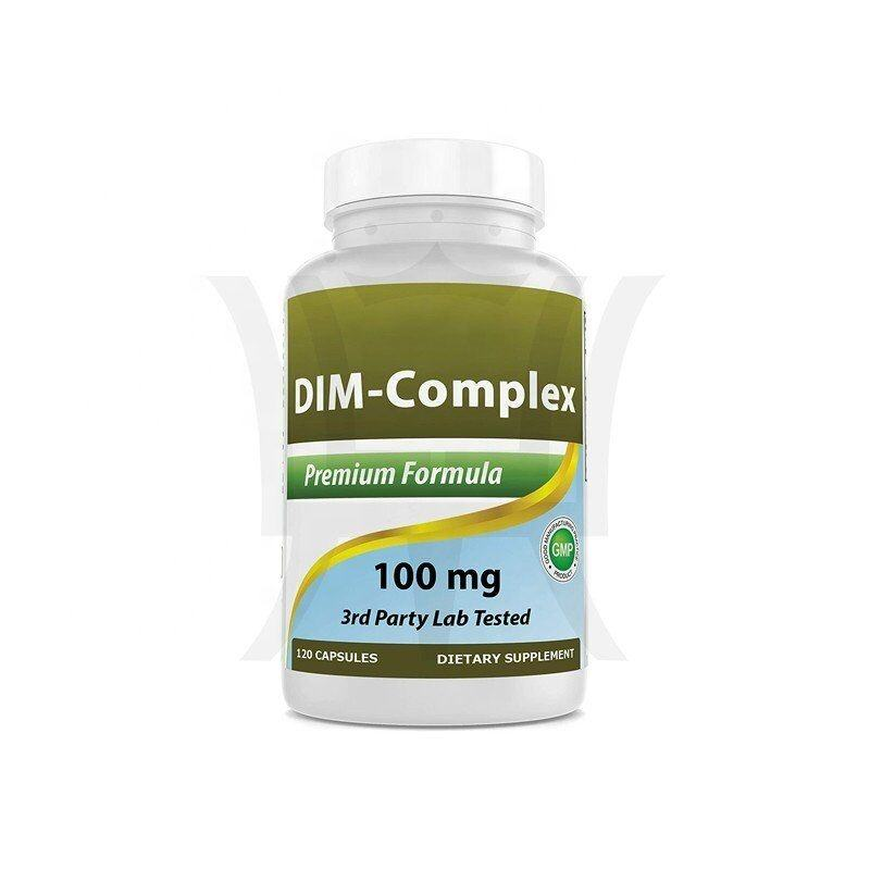Dim Supplement 100 Mg 120 Capsules Voor Oestrogeen Metabolisme & Balans, Menopauze, Body Building, pcos & Hormonale Acne