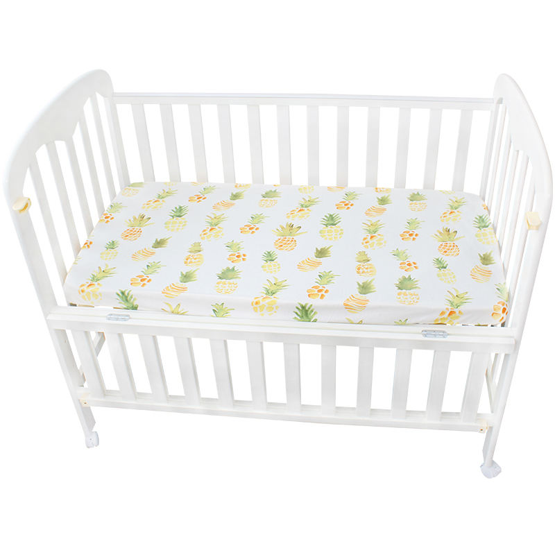New born baby comfortable fancy jersey cotton fitted crib sheet set for boys & girls