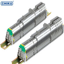 UK 5N Din Rail Screw Terminal Block,4mm2 2.5mm Screw Terminal Block,Din Rail Mounted Terminal Block