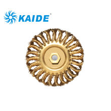 Best selling explosion proof brass wire Twisted Knot wheel brush with screw