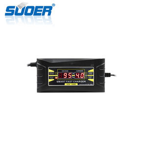 Suoer Automatische Smart Lood-zuur Draagbare 12 v 6A Draagbare Auto-Oplader met Digitale Display