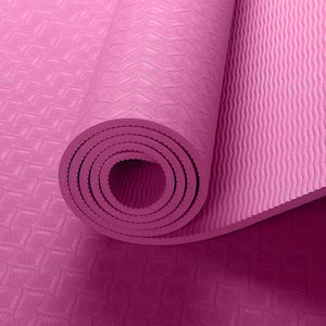 High Quality Fitness Instructional Pilates Foldable Tpe Yoga Mat
