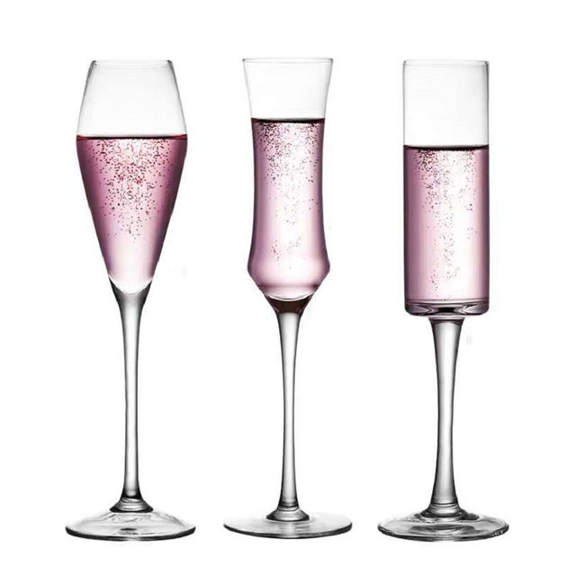 Hot sale handmade crystal goblet champagne flutes glass sparkling wine glass for Party wedding